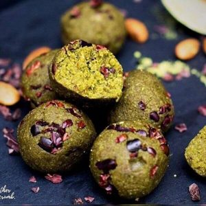 Matcha Cookie Dough Balls