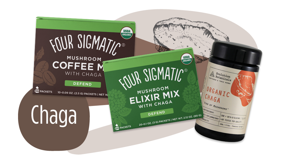 Chaga functional mushroom products - Unique Health Products