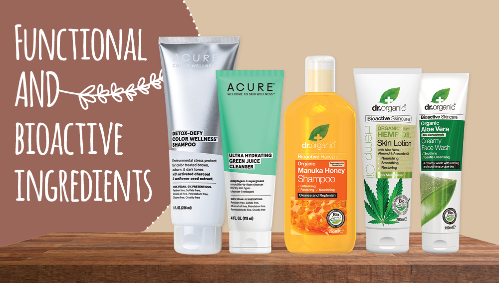 Functional and bioactive ingredients - natural beauty trends