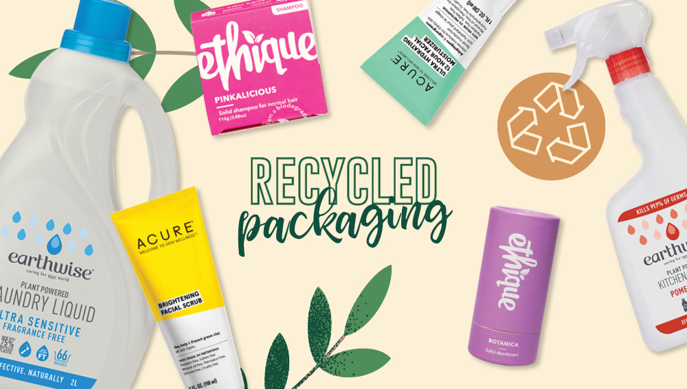 Sustainable brands using recycled packaging