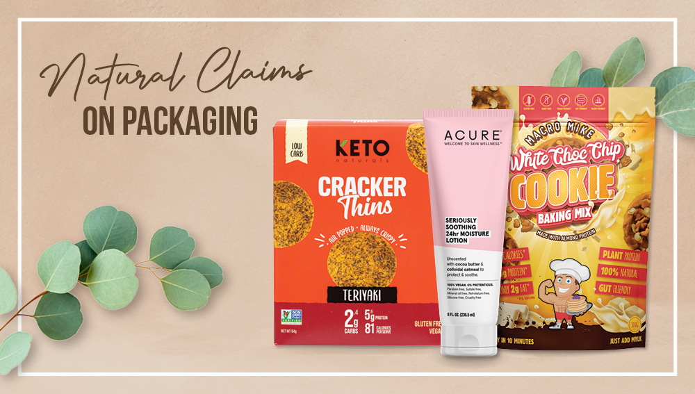 Health claims on natural product packaging